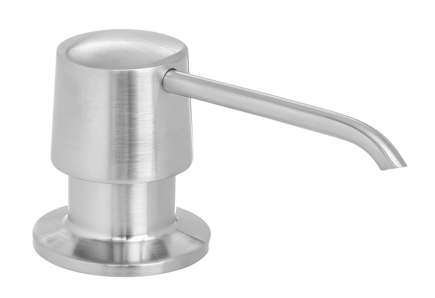 Metal Soap Dispenser Pump Round Shape All Metal Construction Deck Countertop Mount