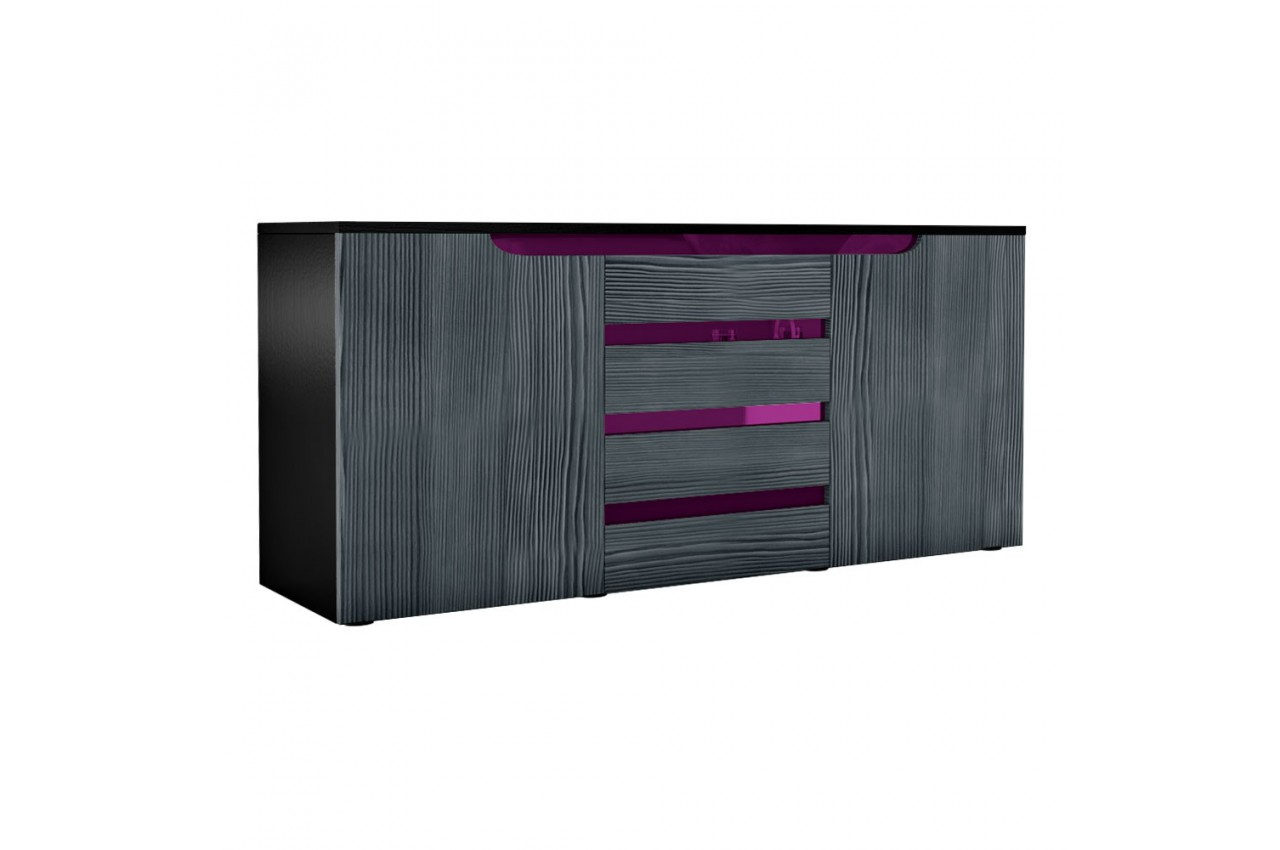 Buffet Design Noir Buffet Noir Design 139 Cm Achille Cbc Meubles