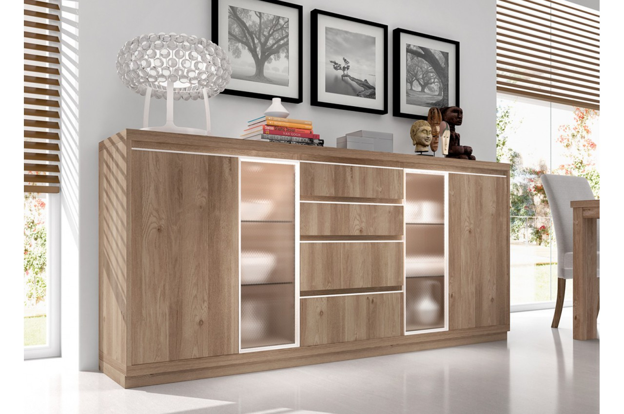 Buffets Bahuts Contemporains Buffet Contemporain En Bois D 39acacia Aden 2917 Cbc Meubles