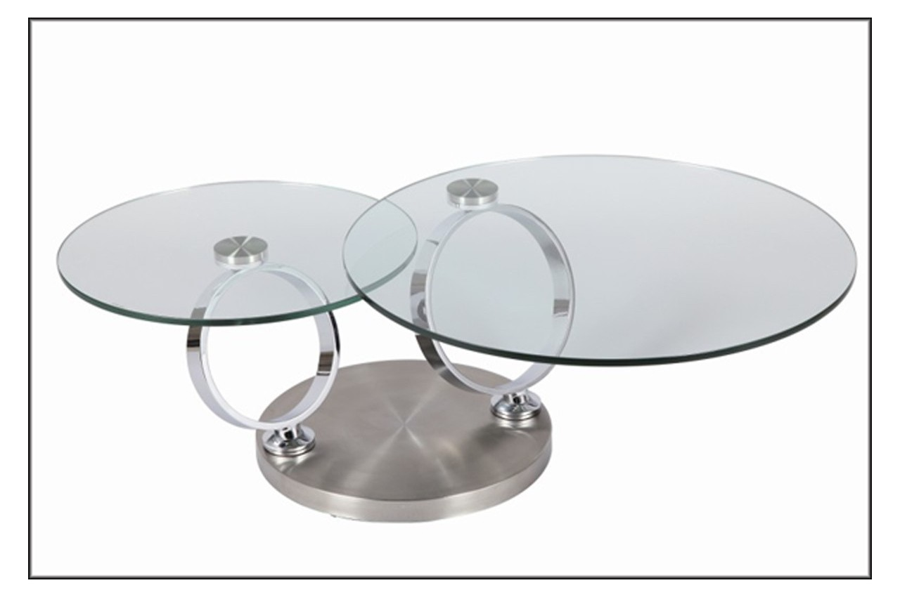 Table Basse Ronde En Verre Design Table Basse Design Ronde En Verre Modulable Astucia 230 Cbc Meubles