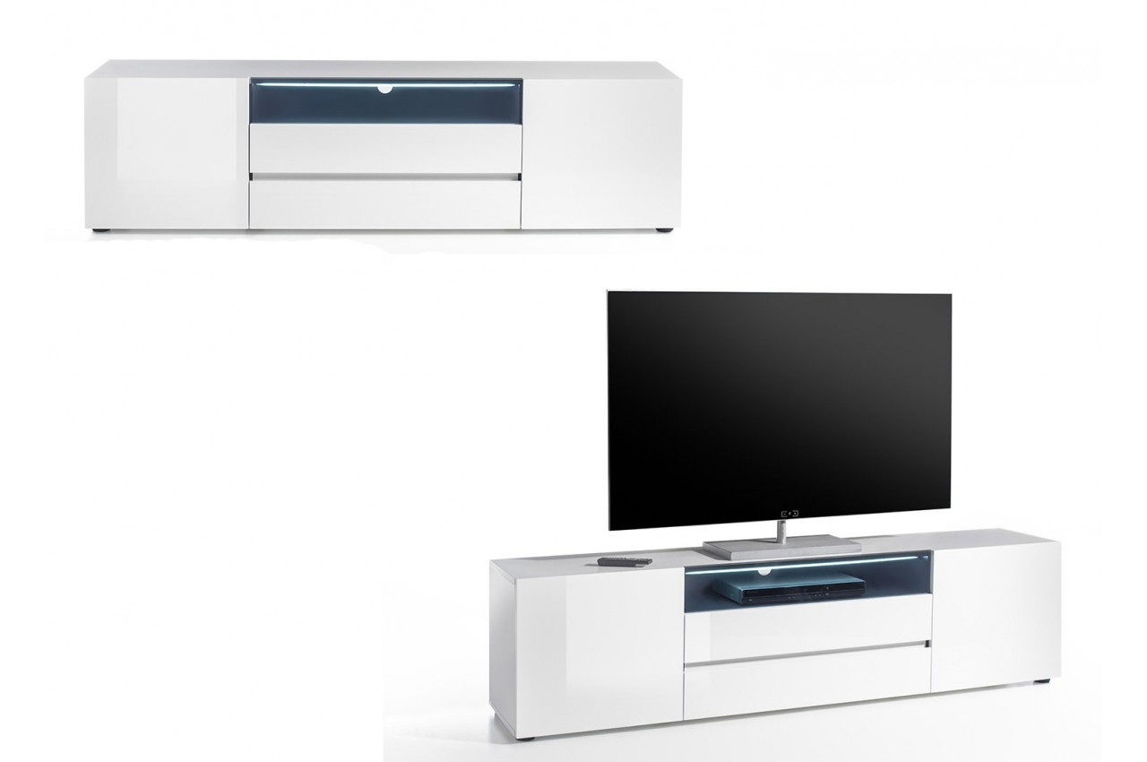 Meuble Blanc But Meuble Tv Design Laqué Blanc Brillant Cbc Meubles