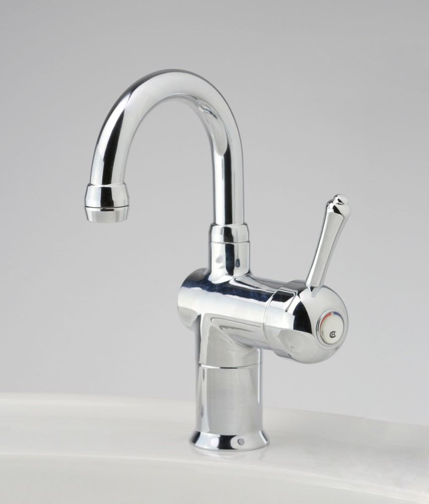 Flick Mixer Tap Cb Roulette Lever Flick Mixer With Basin Gooseneck Outlet