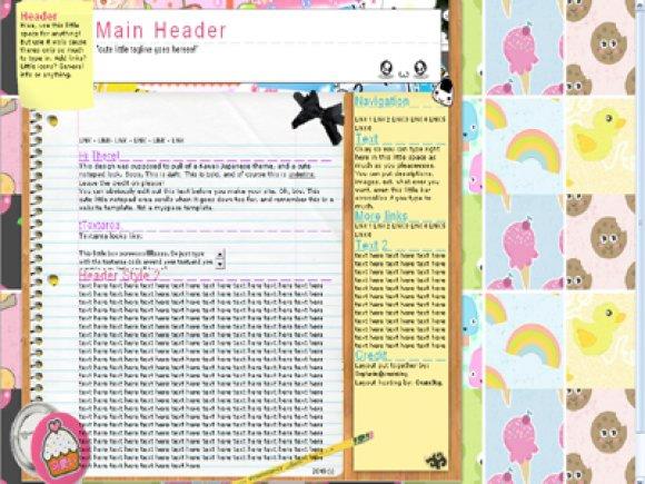 Kawaii Collage - Website Templates - CreateBlog