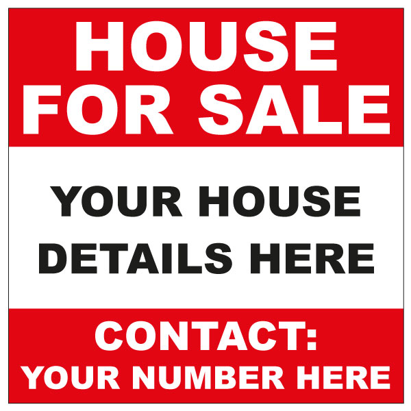 For Sale Sign - House - forsale sign