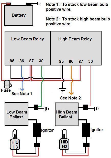 HID Relay wiring diagram - CBR Forum - Enthusiast forums for Honda