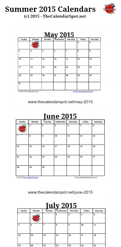 Large Printable 2015 Calendar All Months Printable Free Printable