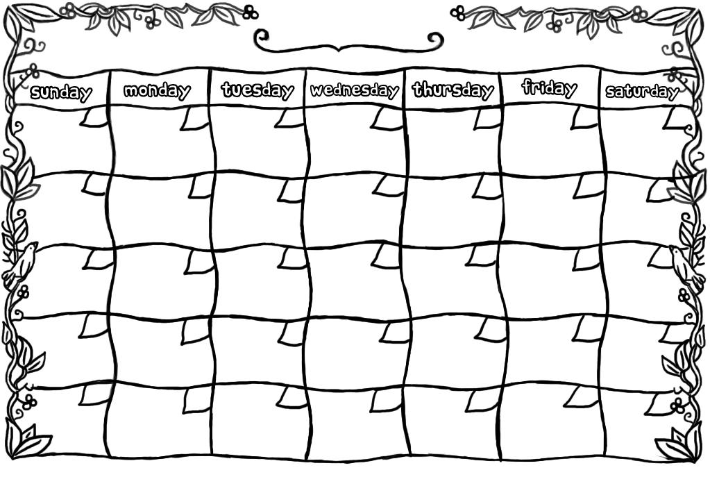 Free Printable Blank Calendar Templates » Calendar Template 2017 - blank calendar templates