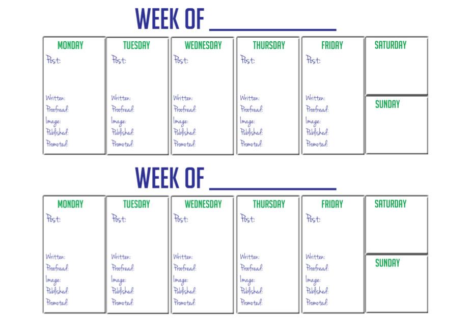 Printable Two Week Calendar » Calendar Template 2017 - weekly calendar printable
