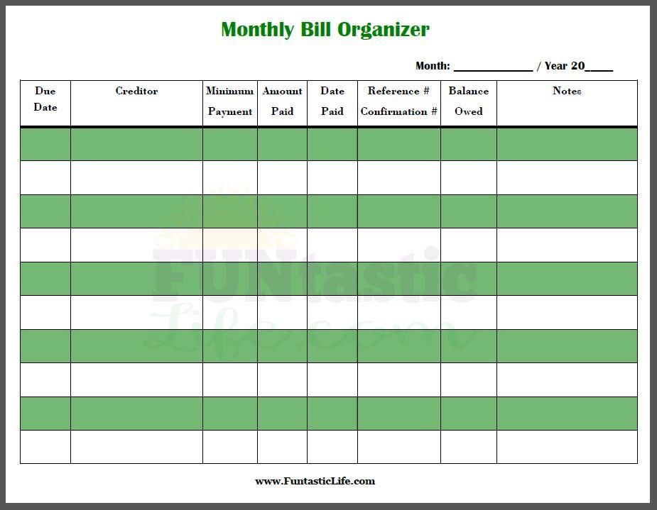 free bill calendar template - Onwebioinnovate - bill calendar