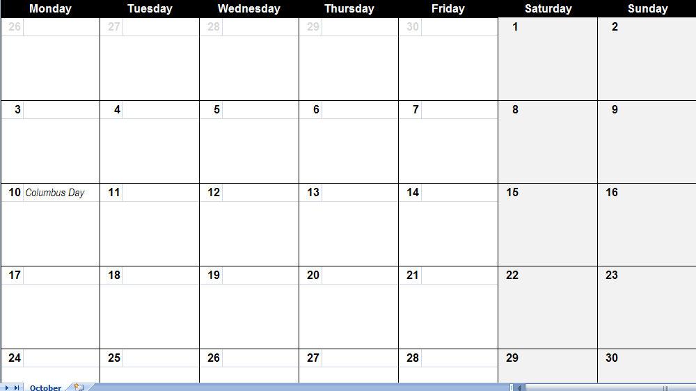 monthly calendar print - Thevillas - microsoft monthly calendar templates