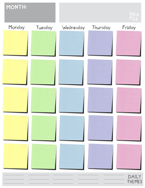 weekly schedule template monday friday
