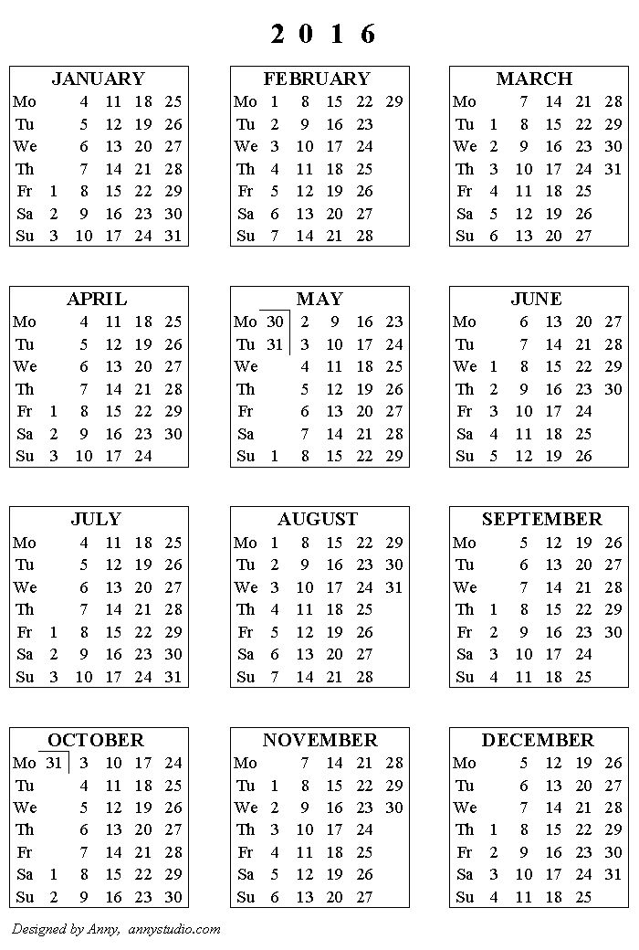 Printable 5 Year Calendar » Calendar Template 2018