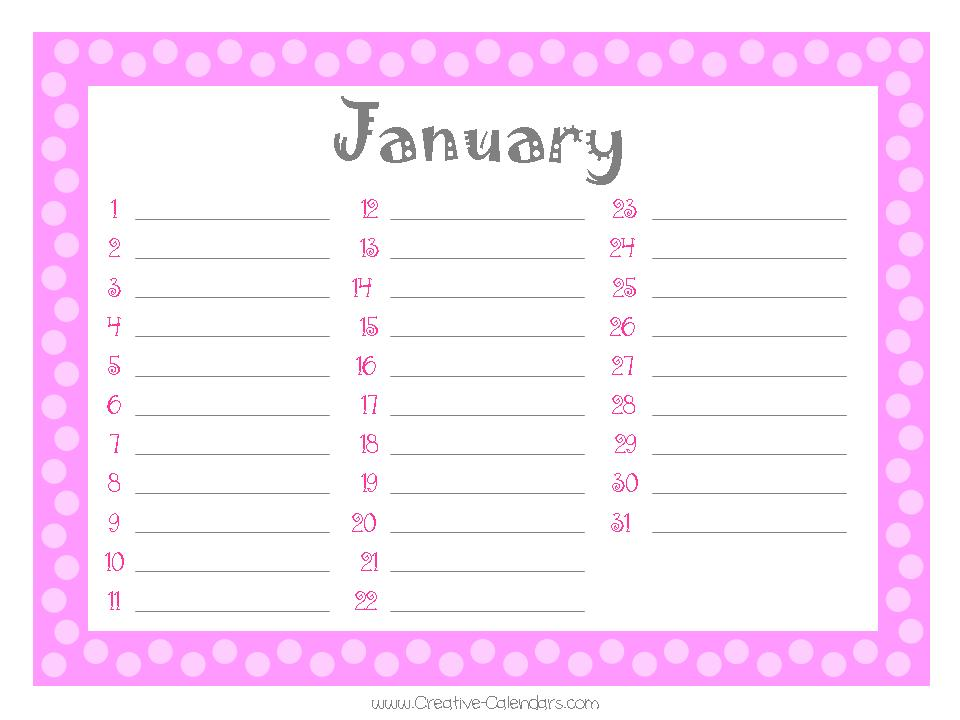 Free Printable Perpetual Calendar » Calendar Template 2018 - perpetual calendar templates
