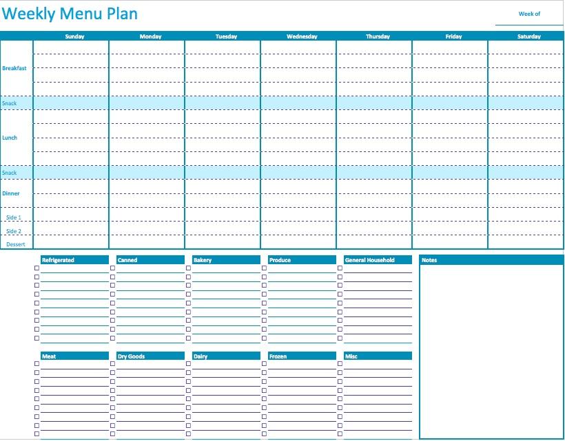 daily meal planner calendar - Romeolandinez - daily menu planner template