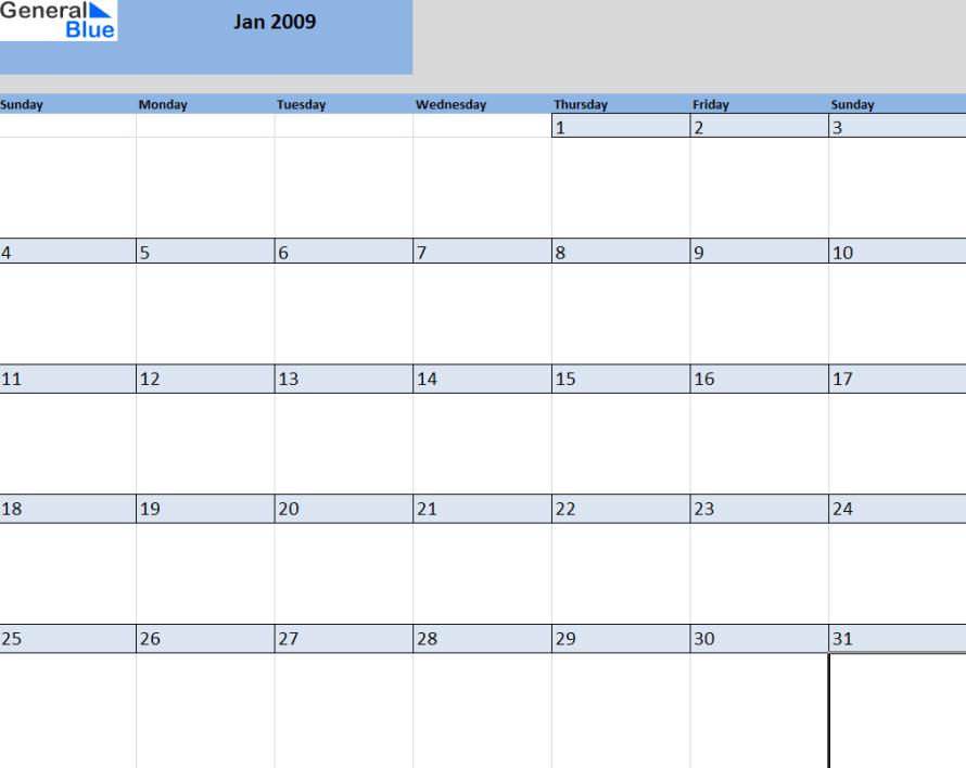 3 month calendar template