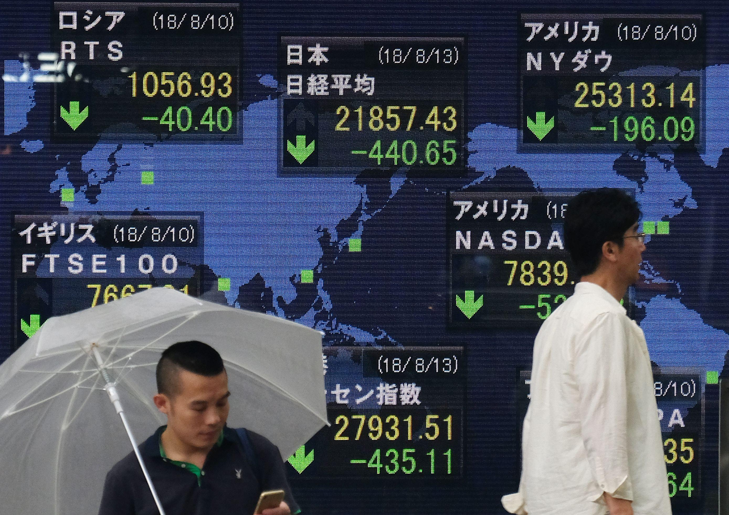 Asian Stock Markets Live Update Stock Prices Slide As Asian European Markets Follow Wall