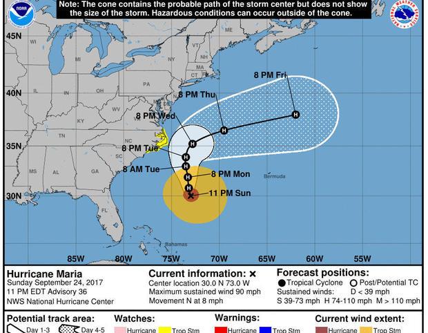 Hurricane Maria Puerto Rico devastation, latest forecast, updates