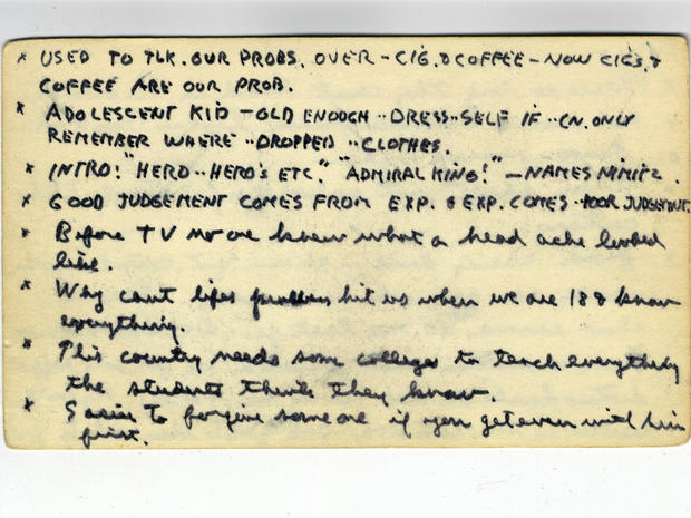 Note Cards - Ronald Reagan\u0027s index cards of one-liners - Pictures