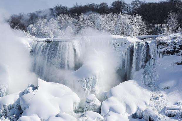 Water Fall Effect Wallpaper Frozen Niagara Falls Niagara Falls Beautiful Frozen