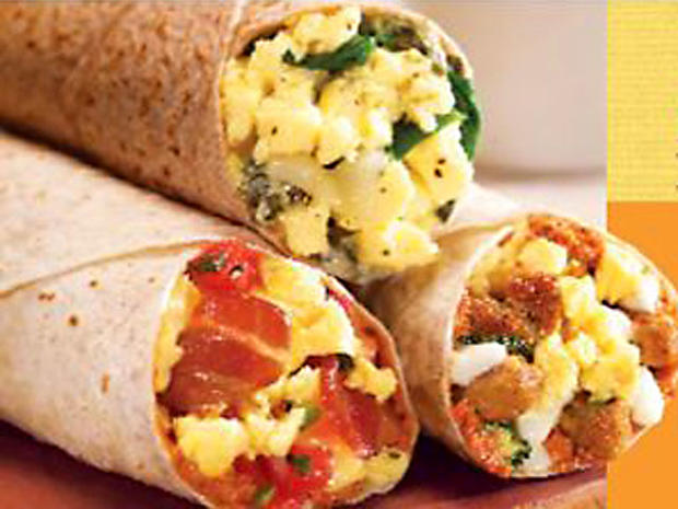 1 Spinach florentine breakfast wrap (Cosi) - Healthiest fast-food