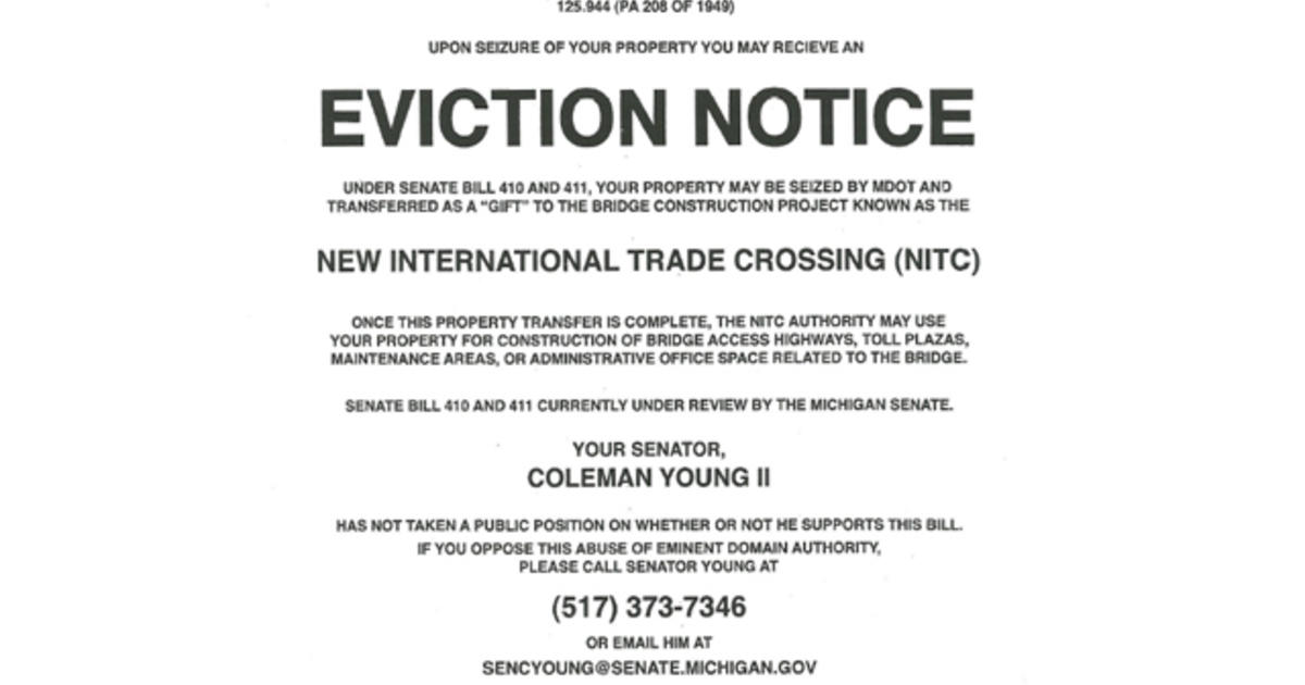 Koch-backed groupu0027s fake eviction notices rile up Detroit - CBS News - eviction notice