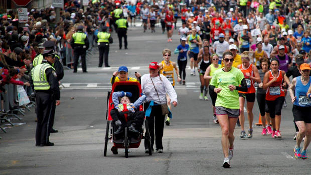 Jogging Stroller For Adults Boston Marathoner Will Run Again A Year After Finishing