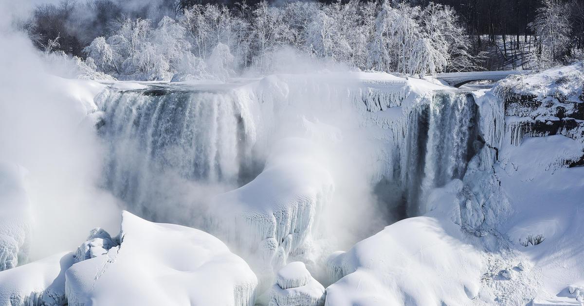 Niagara Falls Wallpaper The Science Behind The Frozen Niagara Falls Cbs News