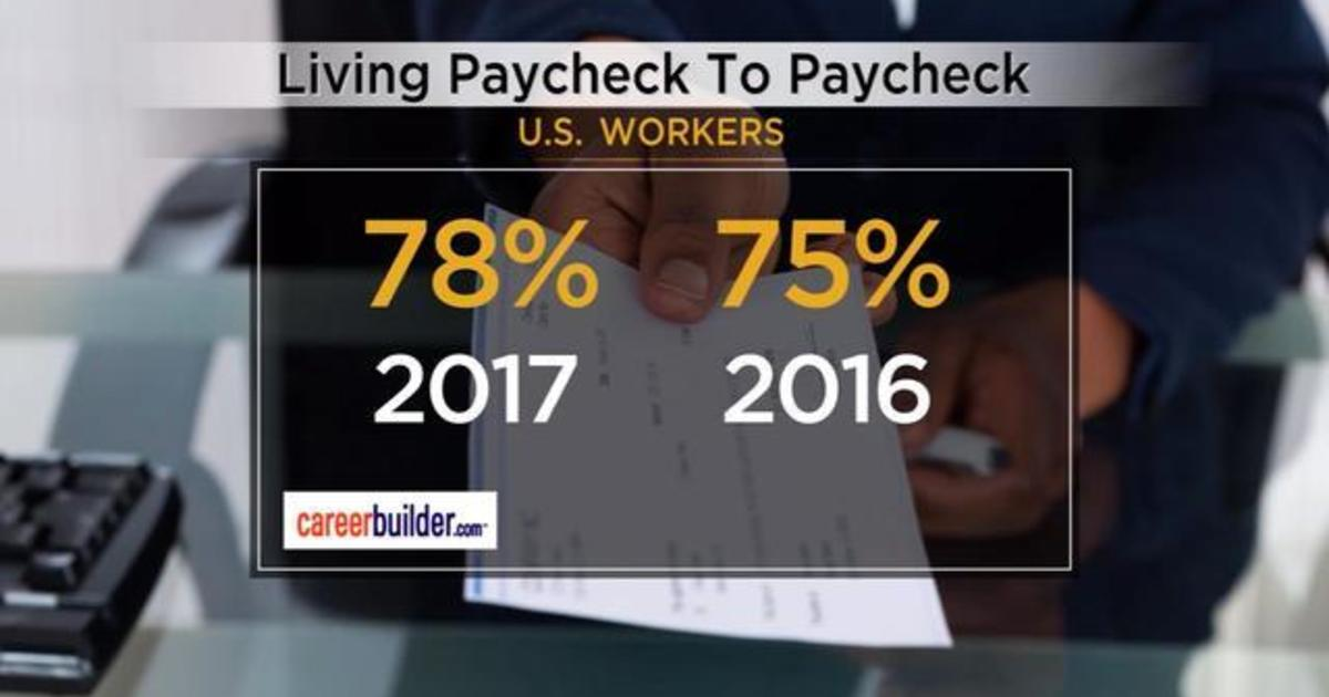 Vast number of Americans live paycheck to paycheck - CBS News