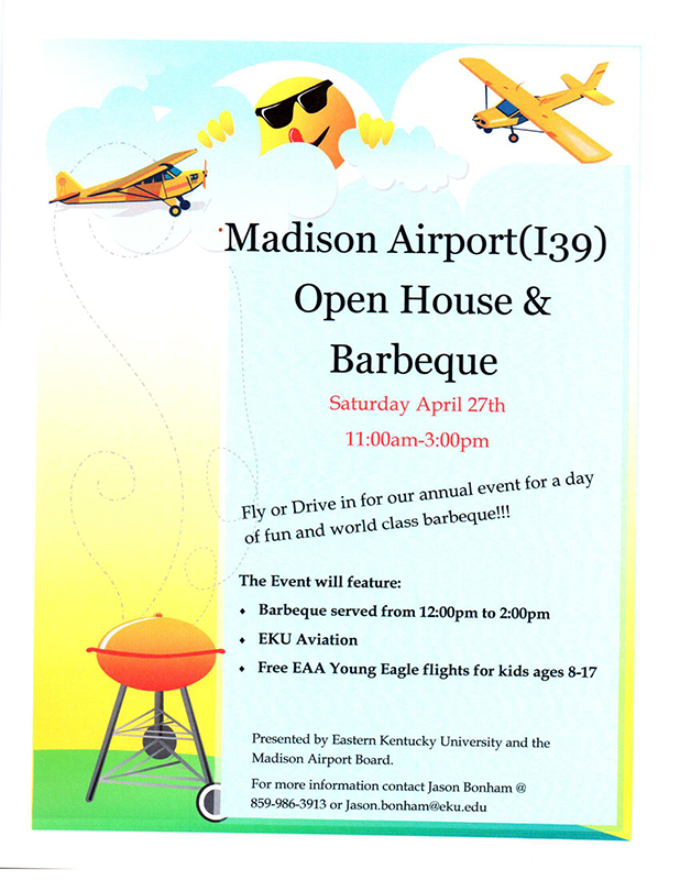 Community Invited to Madison Airport (I39) Open House and Barbeque