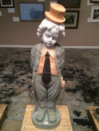 Marble Statue Little Boy with Tie & Top Hat - Chinaberry Tree