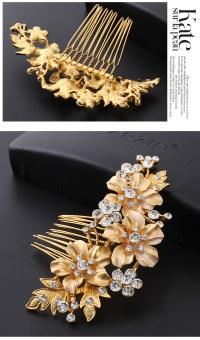 Vintage Handmade Wedding Party Hair Comb Crystal Bridal ...