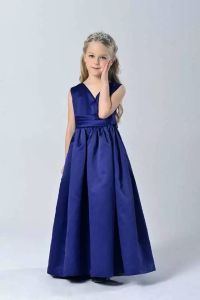 Fashion Elegant Sapphire Blue Wedding Party Kid Girls