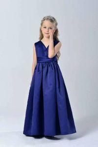 Fashion Elegant Sapphire Blue Wedding Party Kid Girls ...