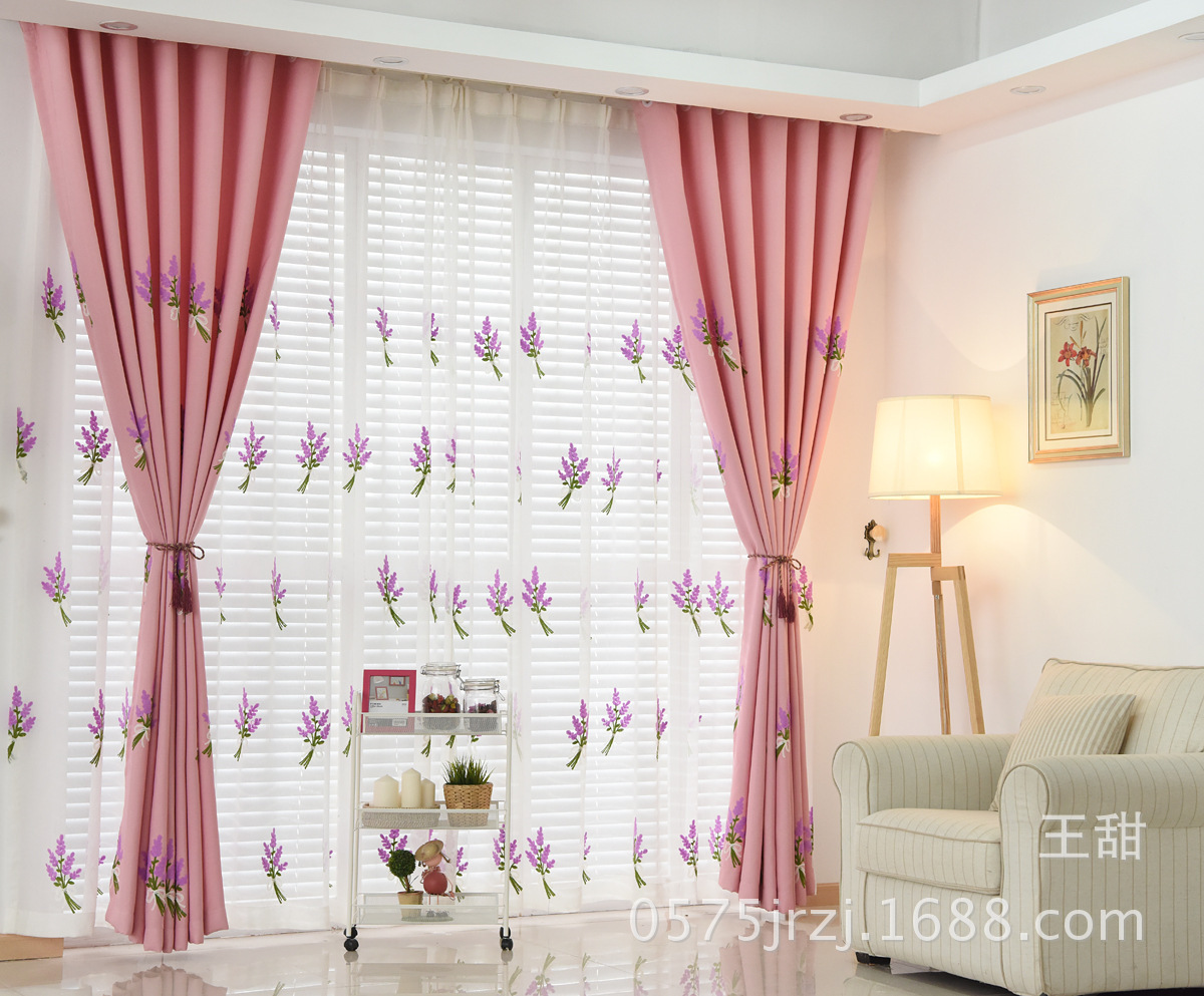 Pink Living Room Curtains Us 24 92 11 Off Vescovo Korean Style Green Blue Pink Lavender Embroidered Voile And Curtains For Bedroom Living Room In Curtains From Home Garden