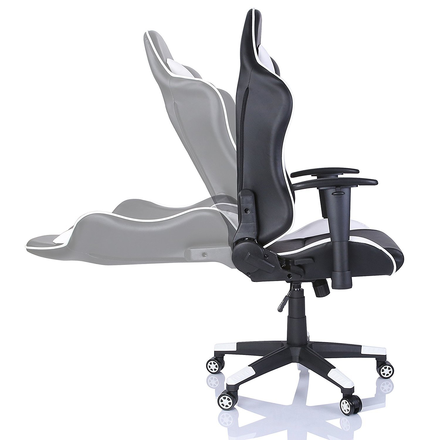 Chaise Pc Chaise De Bureau Gaming Racing Pc Chaise Blanc 1 Tapis De Souris