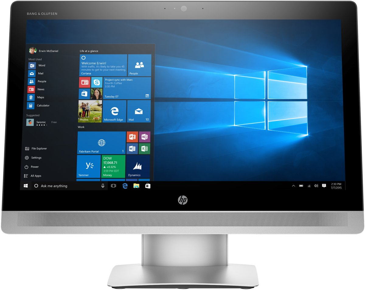 Pc Bureau Professionnel Hp Eliteone 800 G2 Aio 23in I7 6700 8gb Ram 512gb Ssd Win10 Pro Azerty Belgian