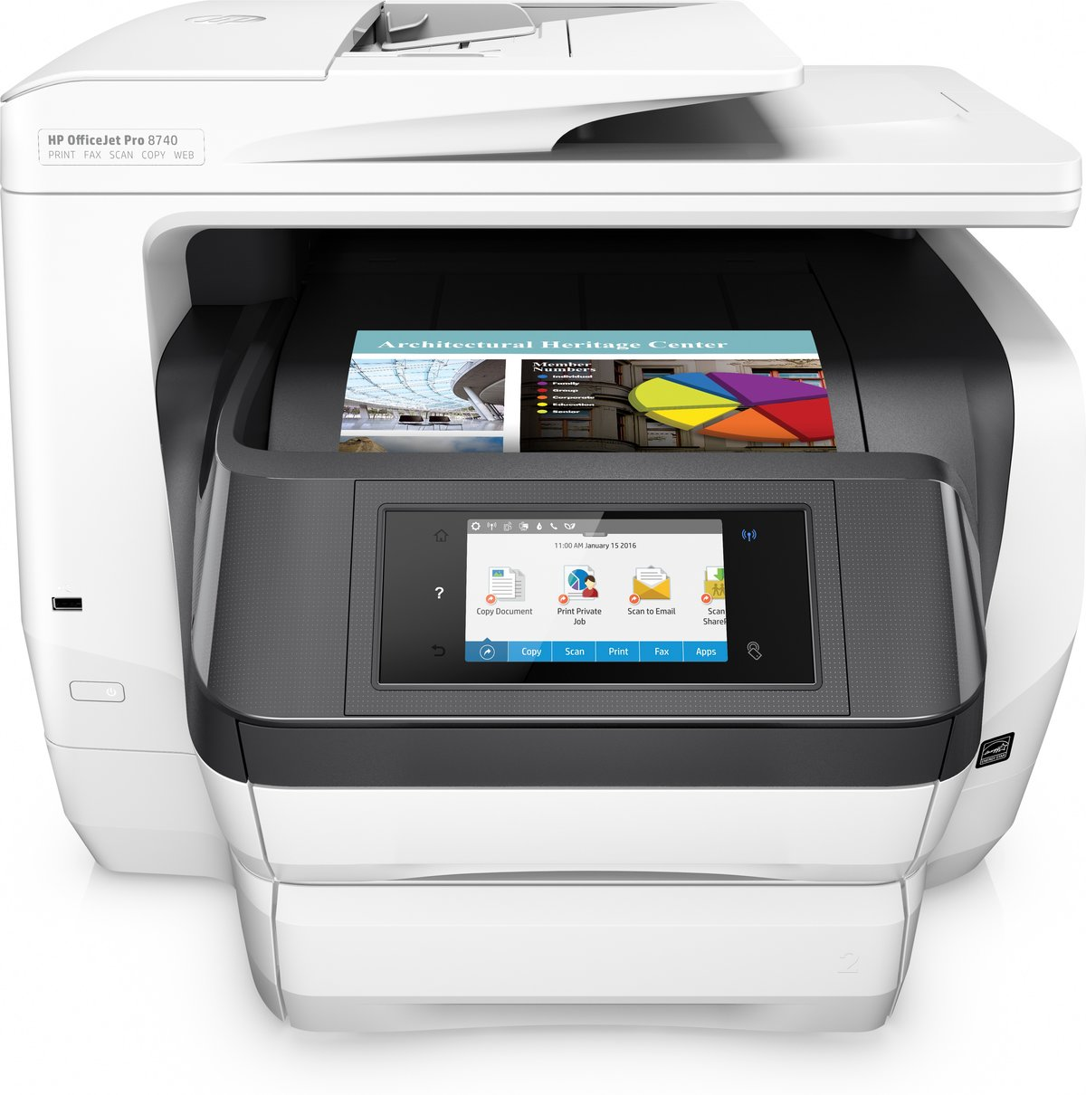 ПЕЧАТЬ ПРИНТЕР Hp Officejet Pro 8740 All In One Wireless Printer With Mobile Printing K7s42a Item 483746