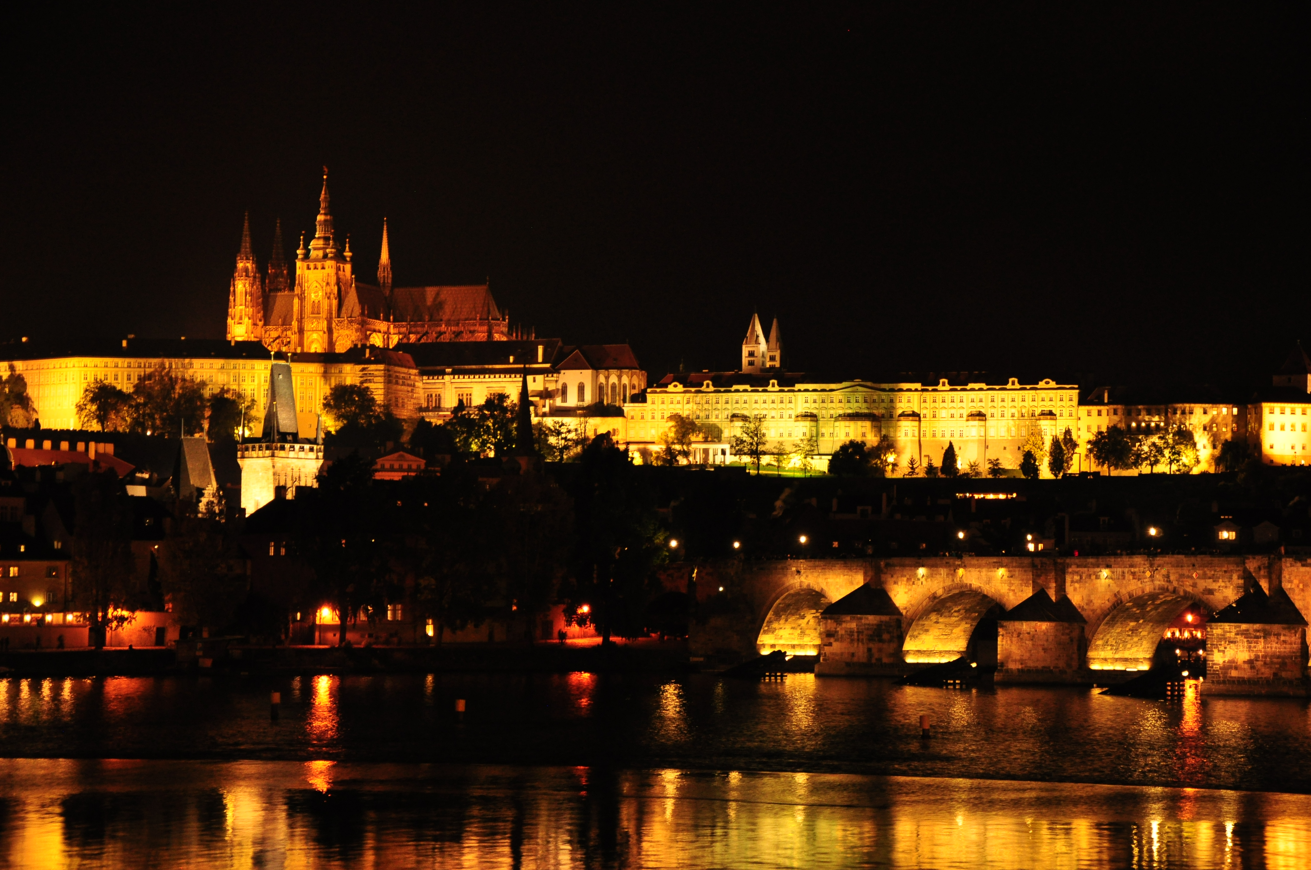 Hd Wallpaper Dimensions Prague Castle At Night Cc0 Photo
