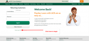 ACE Cash Express [Payday / Personal] Loan Online Login - CC Bank