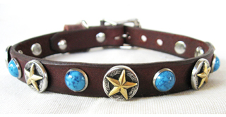 3D Deputy Dawg 5-8 Leather Dog Collar