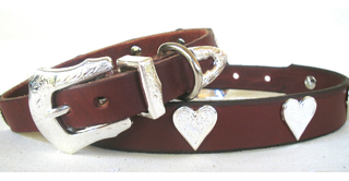 Rodeo Rover Sweetheart.75 Leather Dog Collar
