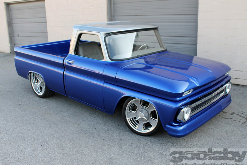 Blue and white two tone - The 1947 - Present Chevrolet  GMC Truck