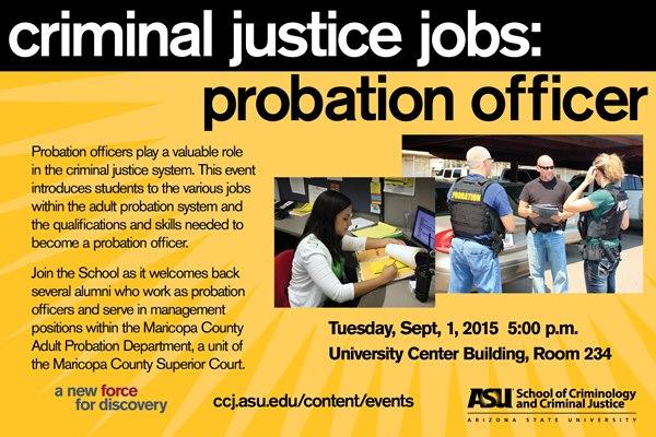 Criminal Justice Jobs Probation Officer School of Criminology and