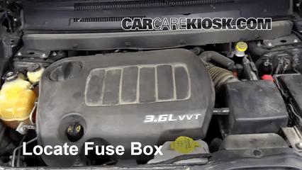 2011 dodge journey fuse box under hood