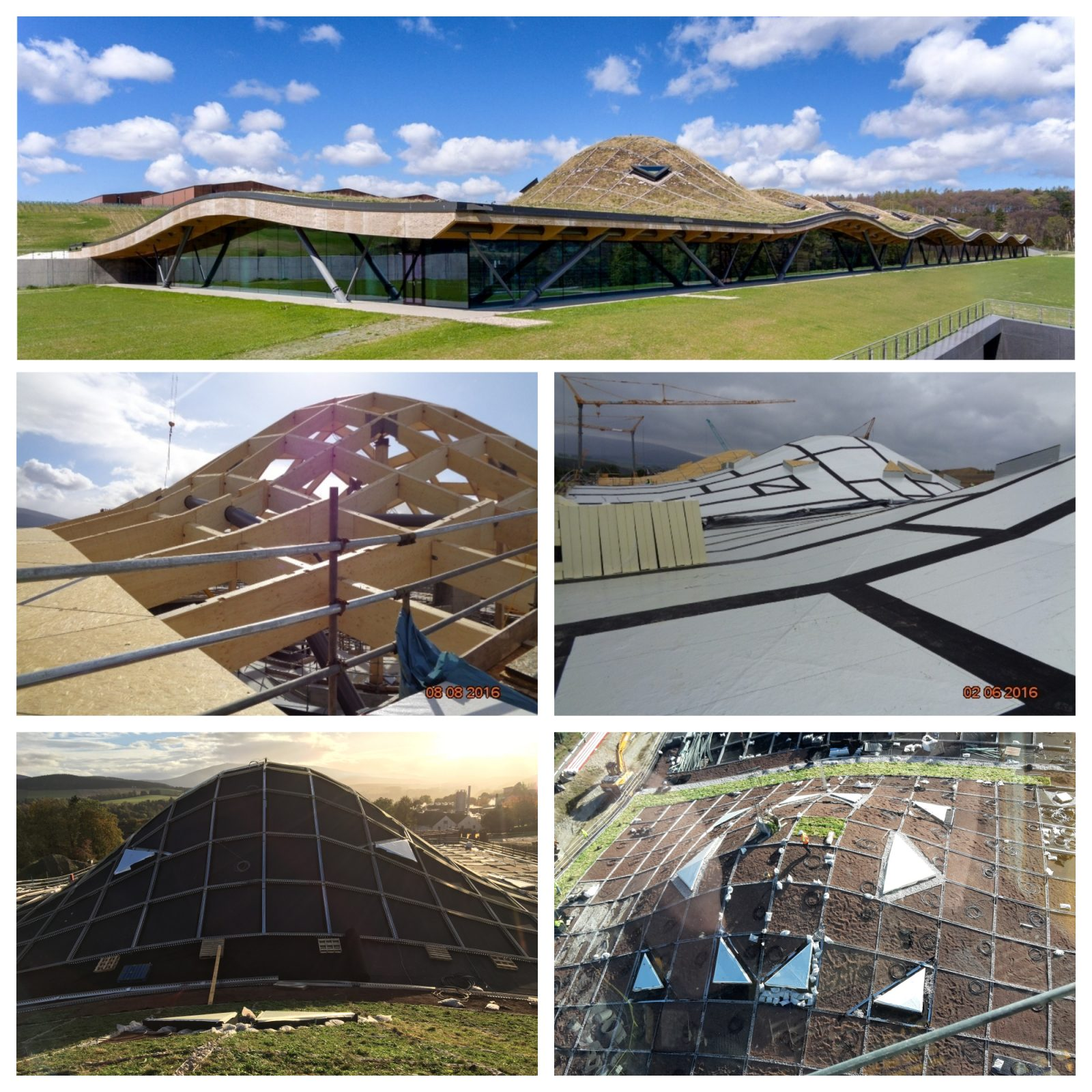 Epdm Rol Dram Roll For The World Class Roof The New Macallan Distillery