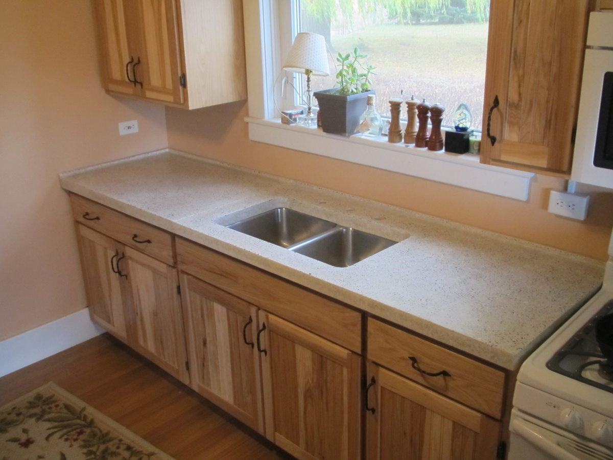 Best Place To Buy Countertops Concrete Counter Top Final Pour And Install Cedar Creek