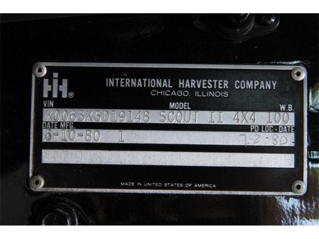 1980 International Harvester Scout II - Scout II (30)