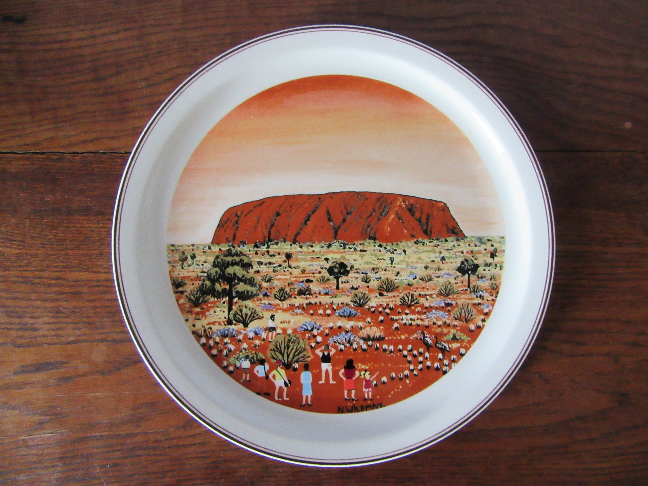 Villeroy And Boch Villeroy Boch Ayers Rock Narelle Wildman Collectors Plate