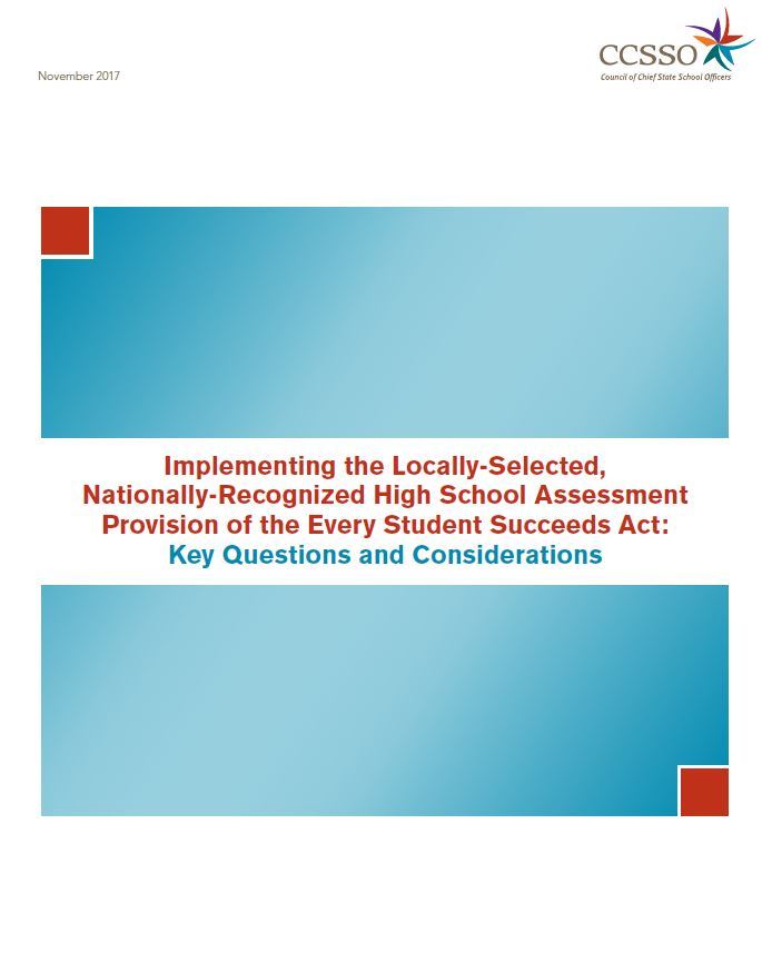 Implementing the Locally-Selected, Nationally-Recognized High School