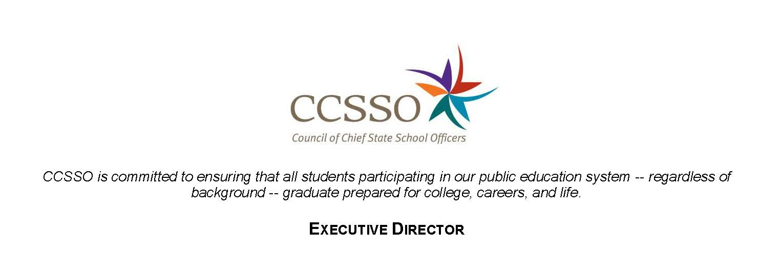 CCSSO Executive Director Job Description CCSSO - executive director job description